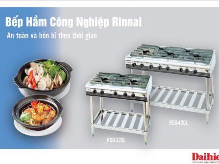 Bep ham cong nghiep Rinnai chan cao